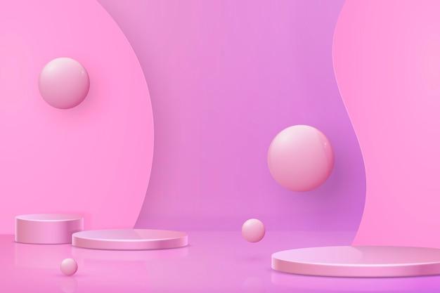 3d streszczenie sceny i kształty tła