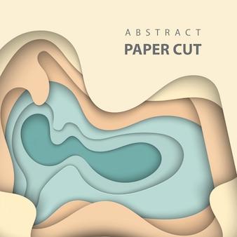 3d streszczenie styl sztuki papieru, układ projektu
