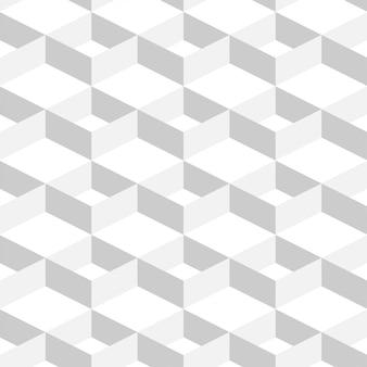 3d streszczenie tło geometryczne biały kolor w prostym stylu płaski
