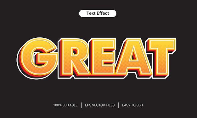 3d świetny efekt półtonów styl gradientu tekstu