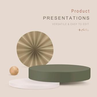 3d szablon tło produktu wektor prosty styl