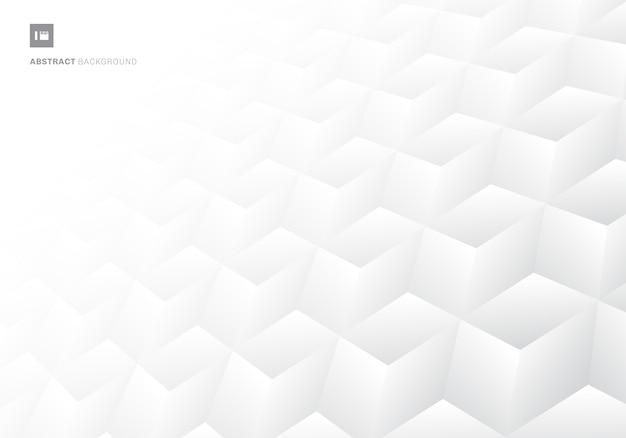 3d sześcianów realistyczny deseniowy biały tło