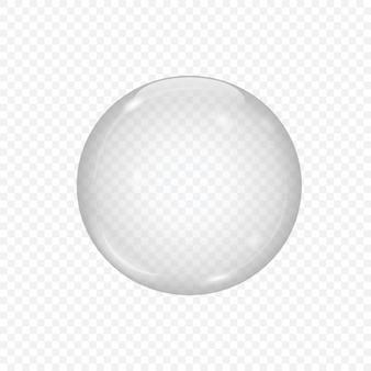 3d szklana kula odizolowywająca na przejrzystym