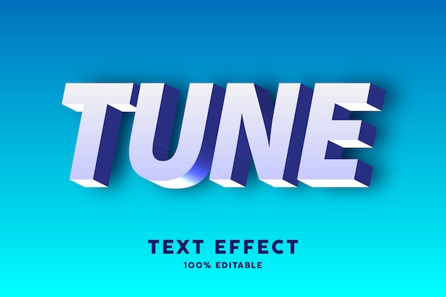 3d tekst biały i niebieski, efekt tekstowy