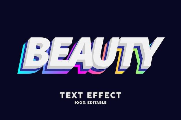 3d tekst biały z warstwą niebieską i gradientową, efekt tekstowy