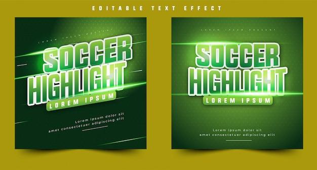 3d tekst efekt nagłówka lub tytułu wydarzenia sportowego, plakat imprezy i baner. łatwo edytować i dostosowywać