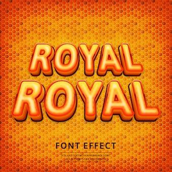 3d tekst logo królewskiego efektu tekstowego