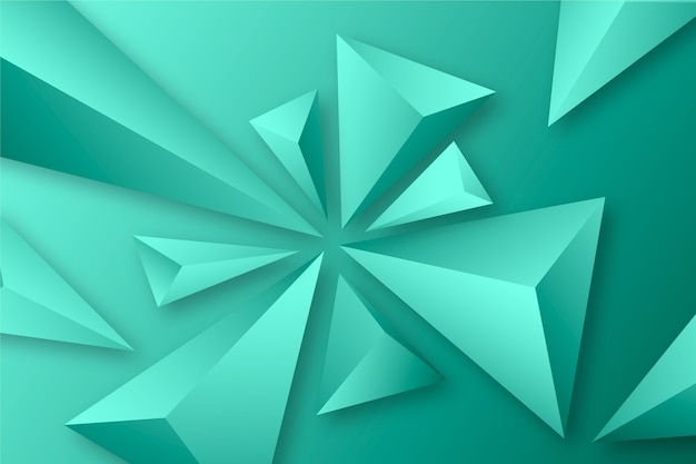 3d trójboka pojęcie dla tło