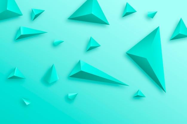 3d trójkąt tło żywe kolory