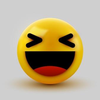 3d uśmiechnięta piłka znak emotikon