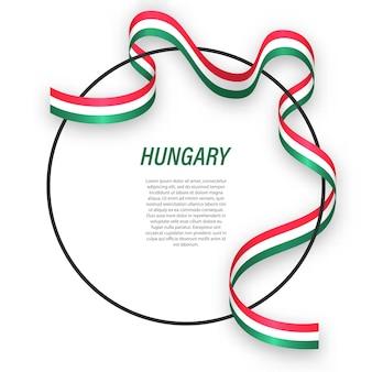 3d węgry z flagą narodową.
