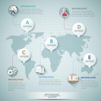 3d wektorowa światowa mapy ilustracja