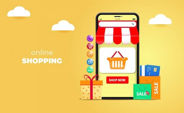3d zakupy online na stronach internetowych lub koncepcjach aplikacji mobilnych