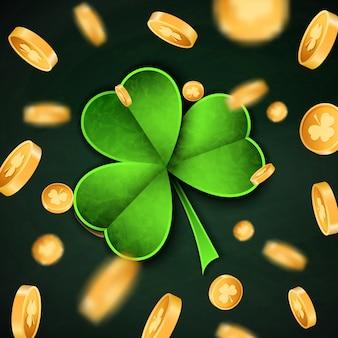 3d złote monety szczęścia