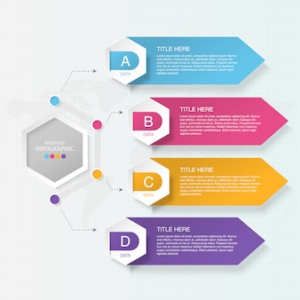 4 element infographic dla koncepcji biznesowej.