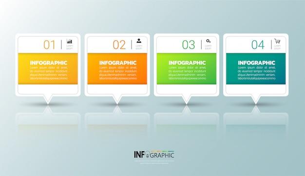 4 kroki infographic