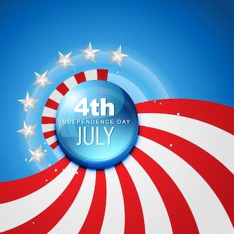 4 lipca amerykański dzień niezależności wektor