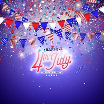 4 lipca dzień niepodległości usa ilustracji