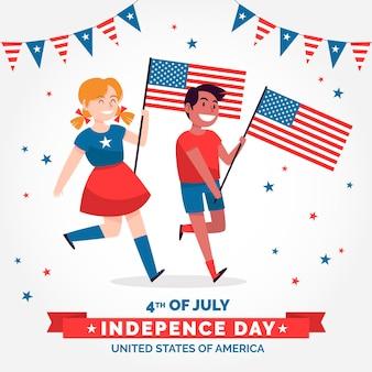 4 lipca - dzień niepodległości w płaskiej konstrukcji