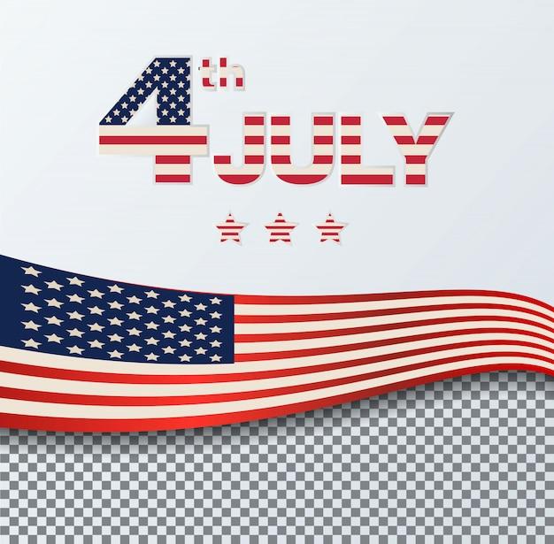 4 lipca dzień niepodległości w tle