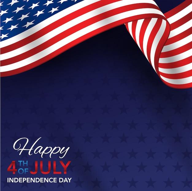 4 lipca dzień niepodległości z amerykańską flagą