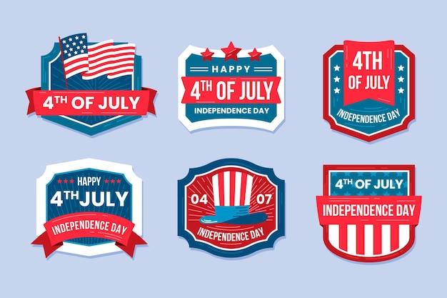 4 lipca - kolekcja etykiet na dzień niepodległości