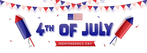 4 lipca, koncepcja amerykańskiego dnia niepodległości.