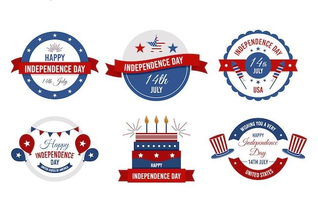 4 lipca odznaki z okazji dnia niepodległości
