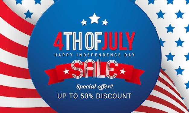 4 lipca sprzedaż wektor wzór.