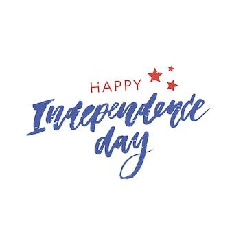4 lipca. szczęśliwy dzień niepodległości kaligrafii
