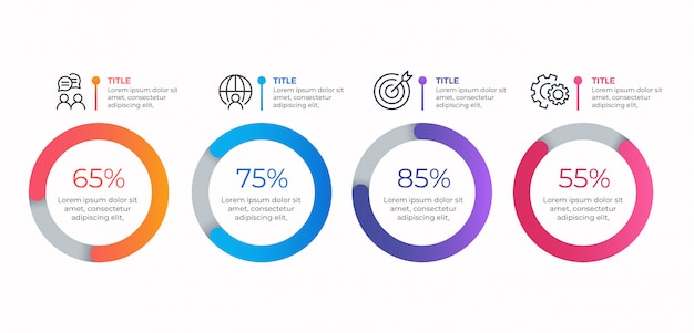 4 opcje szablon biznes infographic