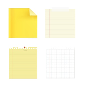 4 papiery notatek