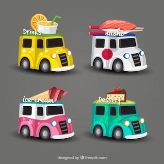 4 różne projektu ciężarówka food