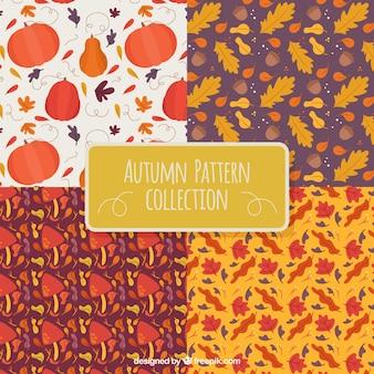 4 różne wzory, jesienią