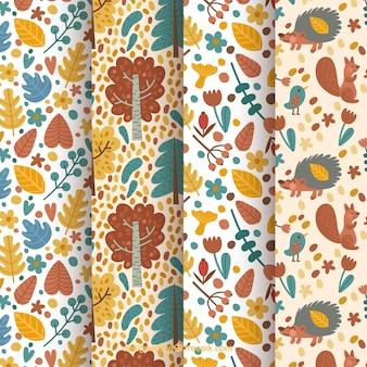 4 urocze wzory, jesienne elementy