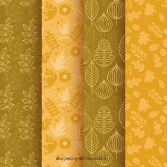 4 wzory, jesienne elementy