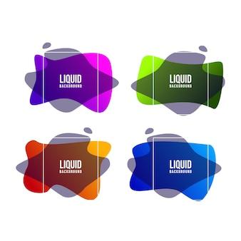 4 zestaw kolorowych płynnych szablonów tła