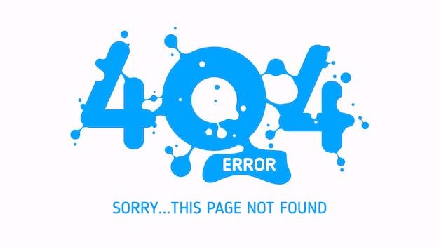 404 błąd cieczy