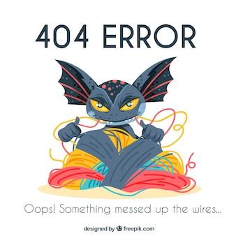 404 błąd w tle z kleszczami potworów