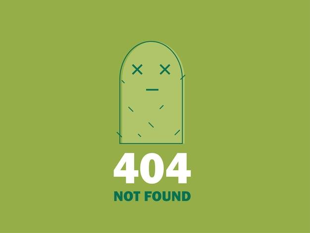 404 ikona strony błędu lub pliku nie została znaleziona. ładny zielony kaktus - ilustracja wektorowa na białym tle ux ui do projektowania stron internetowych i mobilnych