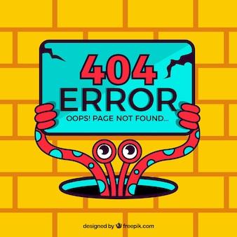 404 koncepcja błędu z czerwonym potworem