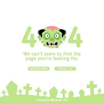 404 koncepcja błędu z zielonym potworem