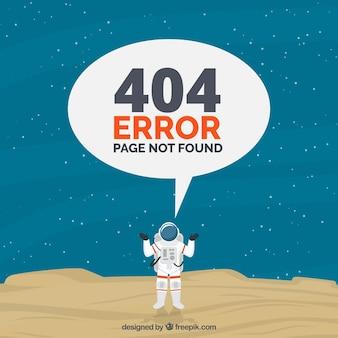 404 projekt błędu z astronautą