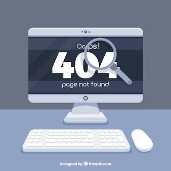 404 projekt błędu z komputerem