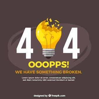 404 projekt błędu z żarówką