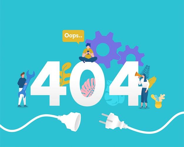 404 stron niot znaleziono koncepcji ilustracji