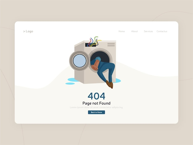 404 szablon strony błędu płaska konstrukcja