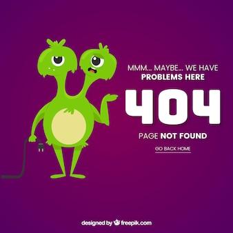 404 szablon strony internetowej błędu z zabawnym potworem