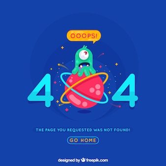 404 tło błędu w stylu płaskiej