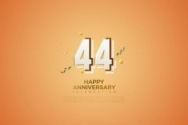44 rocznica z nowoczesnym numerem